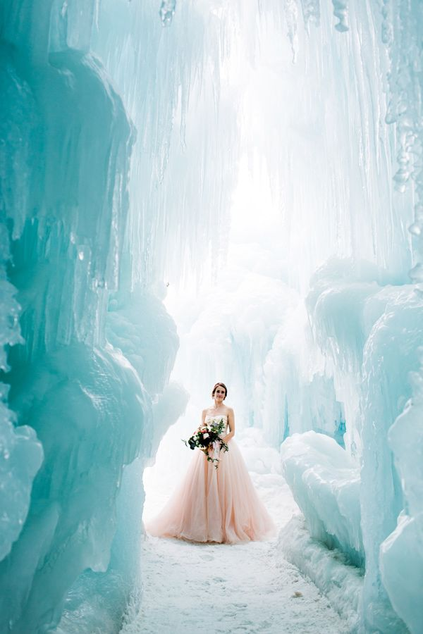 ice castle wedding inspiration - photo by Rodeo and Co Photography http://ruffledblog.com/ice-castle-wedding-inspiration
