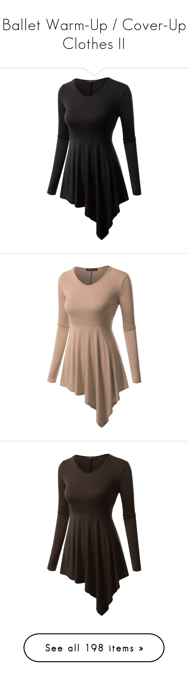 """Ballet Warm-Up / Cover-Up Clothes II"" by gymholic ❤ liked on Polyvore featuring dresses, tops, tunics, shirts, tank tops, tanks, blusas, sleeveless tops, black tank and strappy tank top"