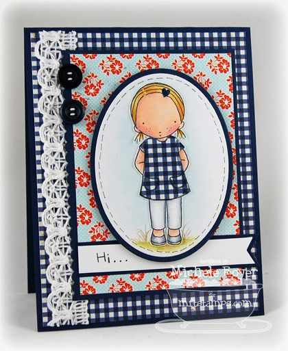 PI Freckles. Card by Michelle Boyer.Cards Ideas, Innocent Cards, Cards 11, Cards Magnolias, Cards Children, Cards Inspiration, Character Cards, Cards Lov, Cards Cutsie