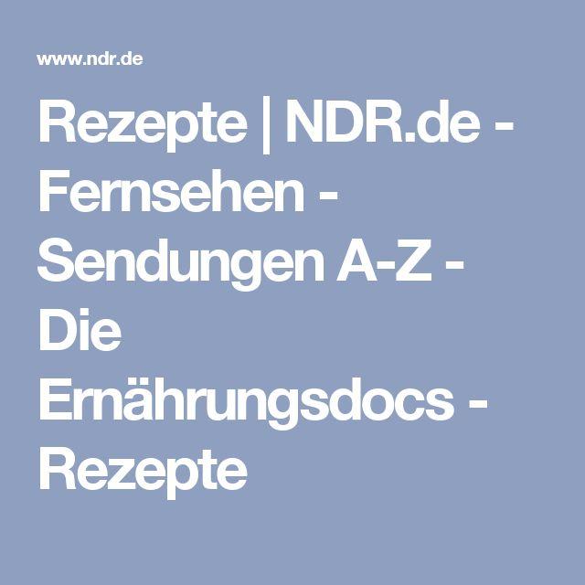 Rezepte | NDR.de - Fernsehen - Sendungen A-Z - Die Ernährungsdocs - Rezepte