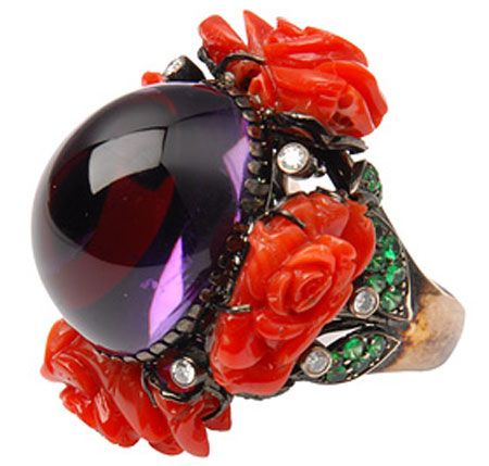 Elite Flowery Ring By Lydia Courteille