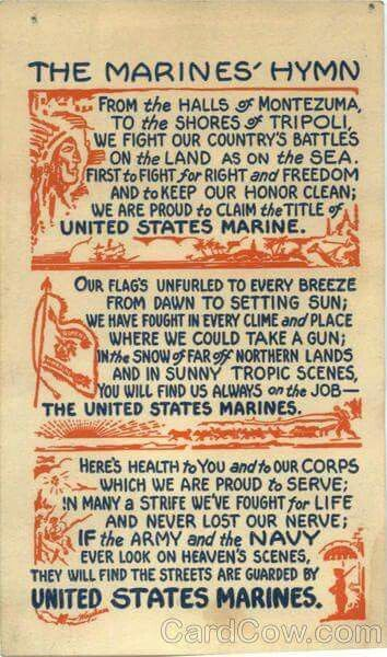 Marine corps hymn
