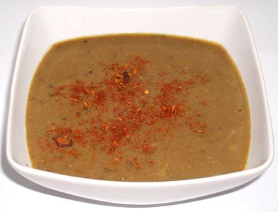 Dal Rasam - Supa indiana de Linte verde
