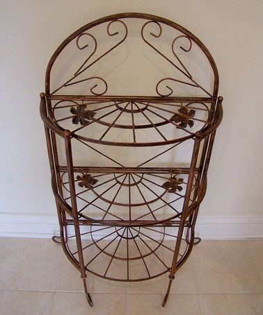 Take a look at this Antique Bronze Sundance Baker's Rack by Oakland Living on #zulily today!