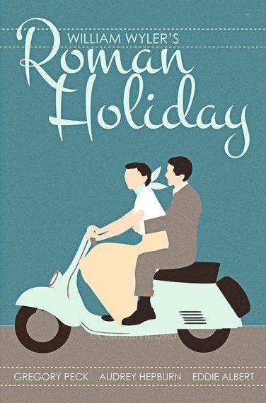 Roman Holiday (1953) - Minimal Movie Poster by Claudia Varosio