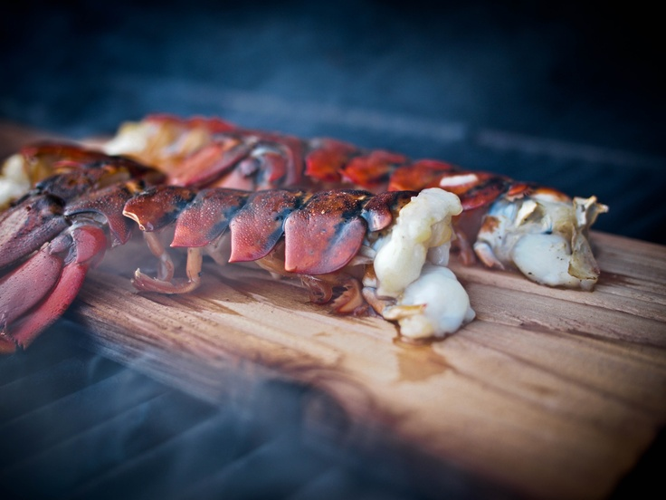 Cedar-Planked Lobster Tails Recipe — Dishmaps
