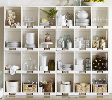 decorButler Pantries, Open Shelves, Kitchens Organic, Organic Ideas, House, Cubbies, Storage Ideas, Pottery Barns, Kitchens Storage