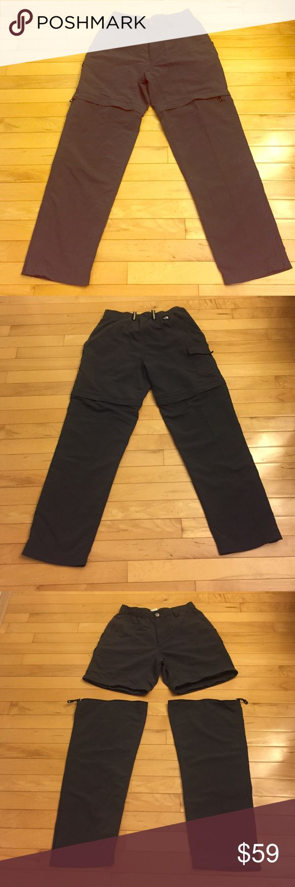 """North Face Pants Size S These North Face pants size S are so practical and comfortable! They are in like new condition! You can unzip the bottom and then wear them as shorts! 100% nylon. There are 5 pockets, two pockets in front, two pockets in the back and one pocket on the back side of the right leg. Inseam 28"""". North Face Pants Straight Leg"""