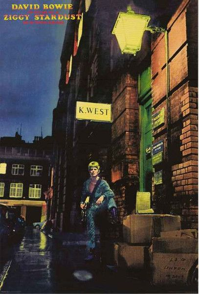 An awesome album cover poster of one of the best rock LP's of all time - David Bowie's Ziggy Stardust! Fully licensed - 2015. Ships fast. 24x36 inches. Check out the rest of our amazing selection of D