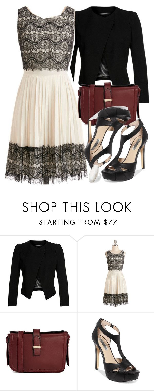 Allison Inspired Oscars Party Outfit by veterization on Polyvore featuring Darling, Plein Sud, INC International Concepts, French Connection and Simply Silver