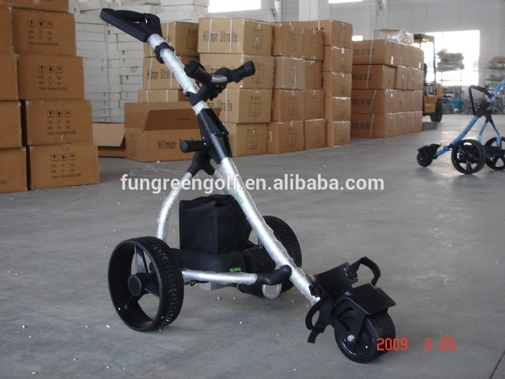 Folding Remote Controlled Electric Golf Trolley With Battery