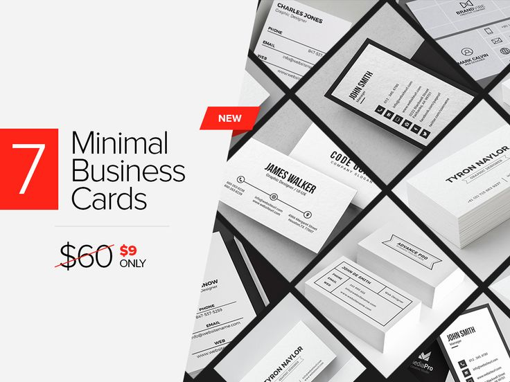 A collection of clean looking business card templates for personal or professional use. NOTE: Mock-ups are not included in the design, these are only for p