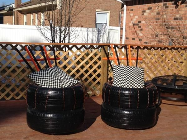 1000 images about reuse recycle tires on pinterest for How to make tire furniture
