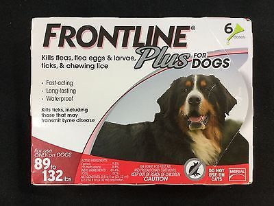 Frontline Plus Flea & Tick Treatment for Dogs 89-132 lbs (6 Doses)