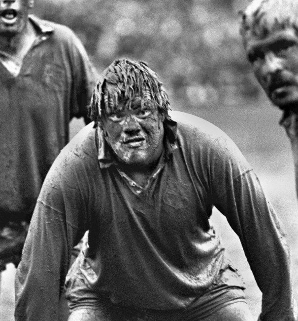 Rugby - the classic Fran Cotton pic - this is what the game is about!