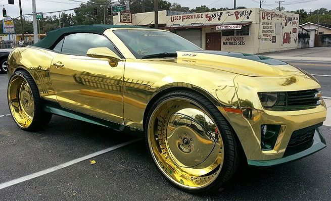 Revista Auto Esporte – Automaníacos » Camaro ZL1 ganha pintura de ouro, rodas de 30″, três telas de LCD de 23 polegadas… » Arquivo