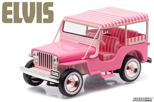 Jeep Rosa de Elvis Presley – Réplica 1:43 da Greenlight Collectibles