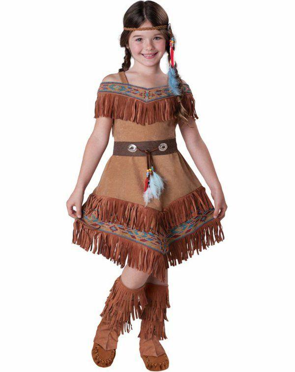 ideen für faschingskostüme kleine indianerin diy