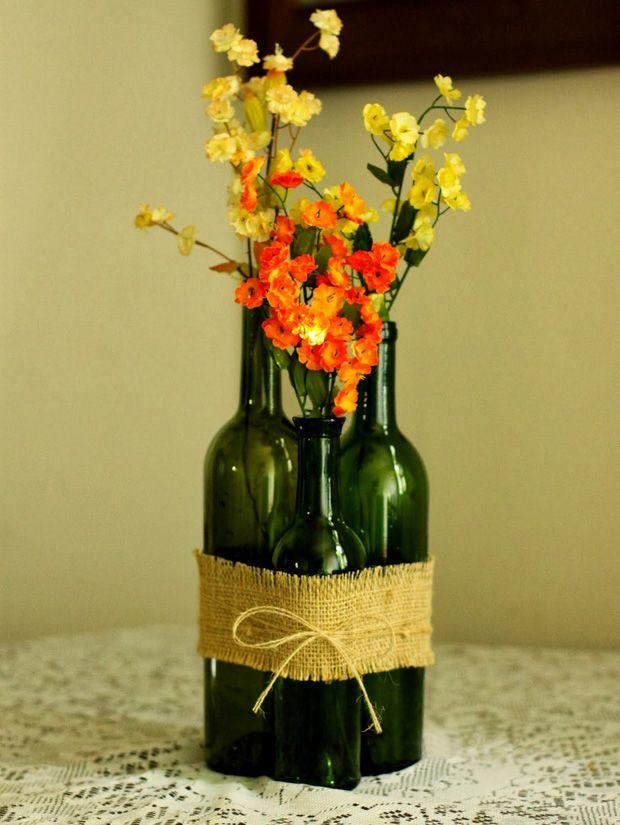 Best wine bottle vases ideas on pinterest