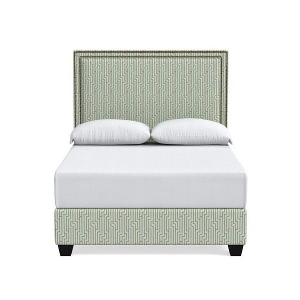 Williams-Sonoma Gramercy Bed ($4,295) ❤ liked on Polyvore featuring home, furniture, beds, california king bed headboard, platform bed, cal king size bed, cal king platform bed and cal king headboard