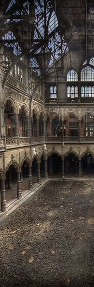 The abandoned stock exchange in Antwerp, Belgium.