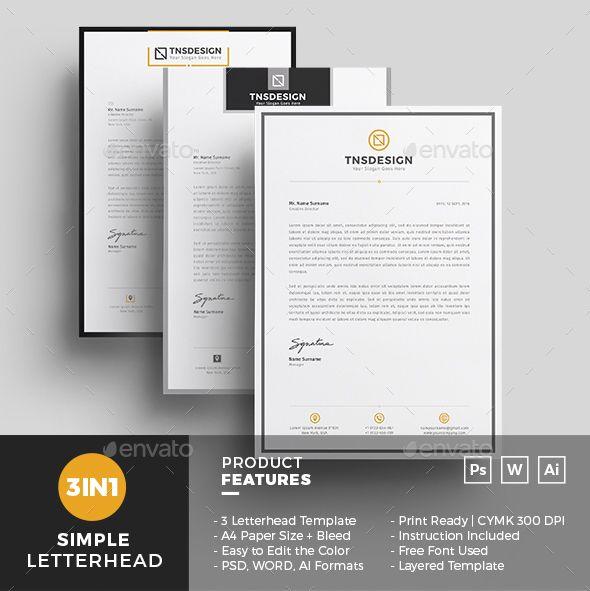 50 Best Letterhead Design Templates 2020 Psd Word Pdf