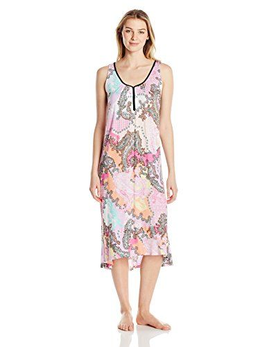 Ellen Tracy Womens Long Midi Gown Pink Paisley M >>> Check out the image by visiting the link. (This is an affiliate link and I receive a commission for the sales)