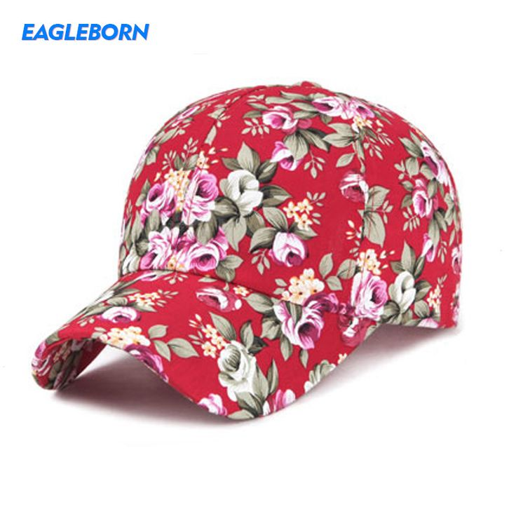 2017 Spring New Floral Baseball Caps For Women,6 Color Snapback Summer Hats  Gorras Eagleborn