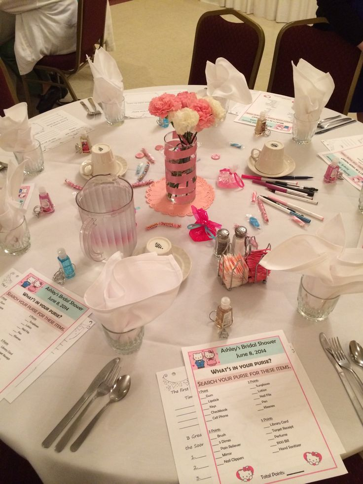 A Table Setting Example For A Bridal Shower. The Guest Can Play The  Part 94