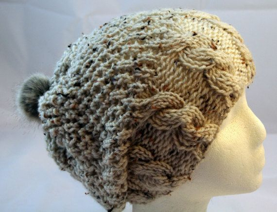slouchy beanie by WoollyLoveHome on Etsy