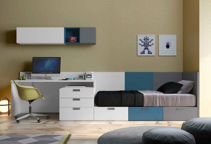 Habitaci n juvenil moderna briana en mbar muebles - Habitaciones juveniles clasicas ...