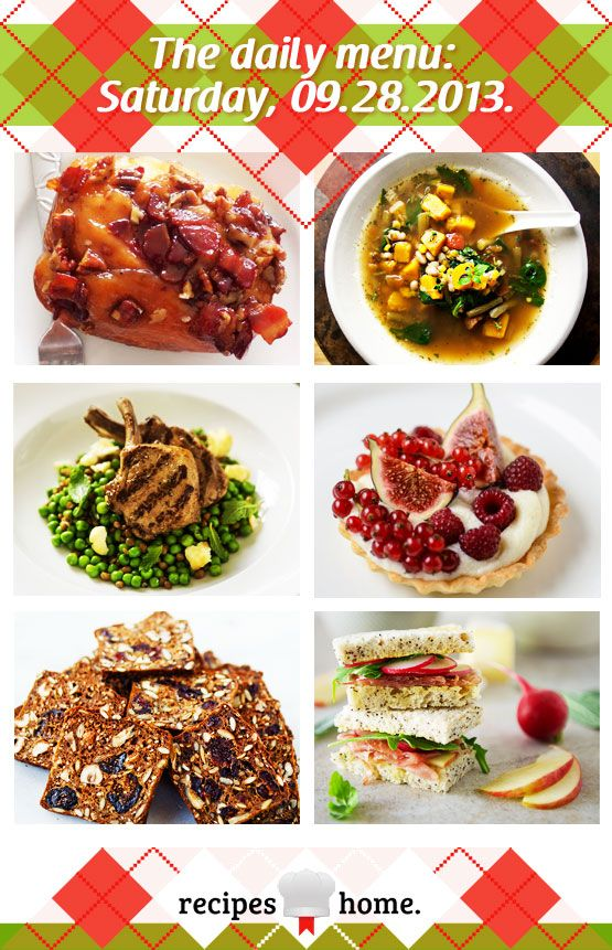 menu: Saturday, 09.28.2013: Breakfast: Bacon Pecan Maple Sticky Buns ...