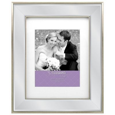 occasions marina mirrored picture frame in silver bedbathandbeyondcom