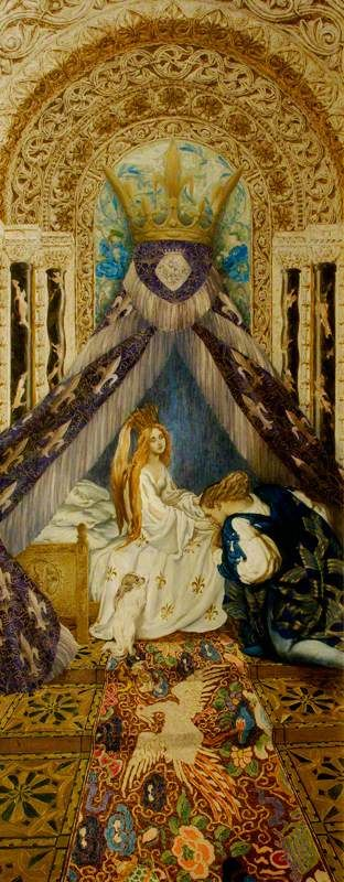 The Sleeping Beauty: The Prince Discovers the Princess and Wakes Her with a Kiss, c. 1913-1922 by Léon Bakst