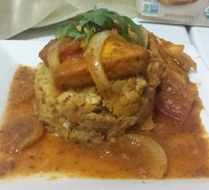 #Vegan #Mofongo with Tofu Guisado
