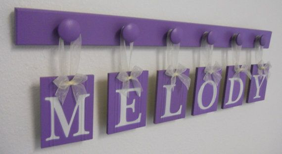 Purple Baby Nursery Decor Personalized for MELODY by NelsonsGifts
