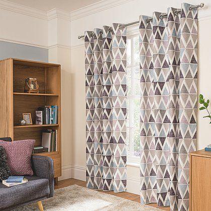 George Home Triangle Geo Print Curtains | Home & Garden | George at ASDA