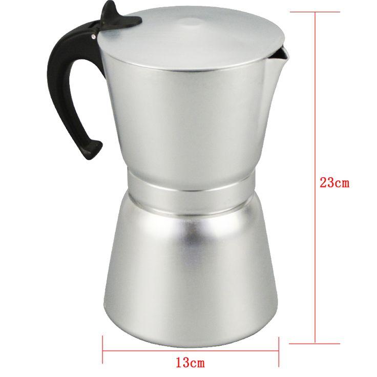 High Quality 12 Cups Aluminum Moka Pot Portable Coffee Maker