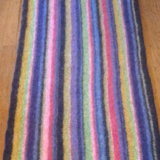 Felted rug using Cabin Fever Northern Lights