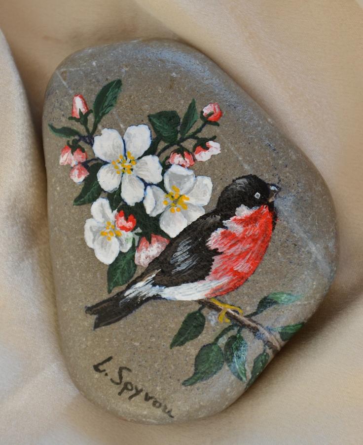 hand painted sea stone
