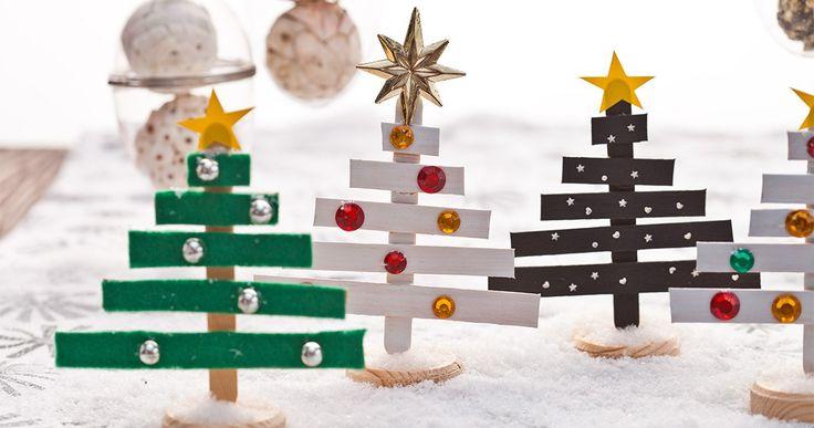 Vánoční stromečky z dřívek - Christmas decorations | Vánoční trhy | Tesco