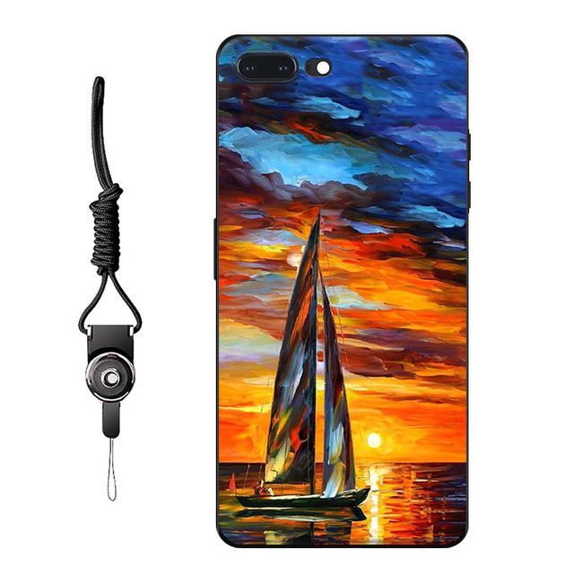 Free hang rope For Oneplus 5 Oneplus 3 Oneplus X case new fashion sea sunset sailing Boat painting Hard mobile phone bag shell  Price: US $9.95 & FREE Shipping