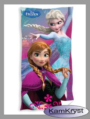 Kraina Lodu Anna i Elsa ręcznik bawełniany dla dzieci 70x140 cm