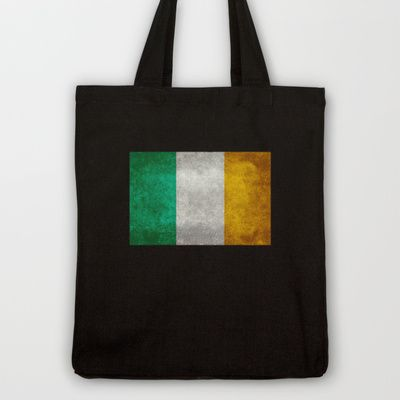 National flag of the Republic of Ireland - Vintage Version Tote Bag by LonestarDesigns2020 - Flags Designs + - $18.00