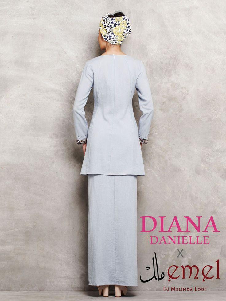 Diana Danielle x emel - Soft Linen Baju Kurung with Beaded Trim   Offi – emel by Melinda Looi - Official Webstore