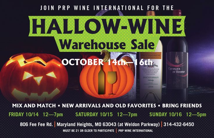 PRP's HalloWINE Warehouse Sale - This Weekend!