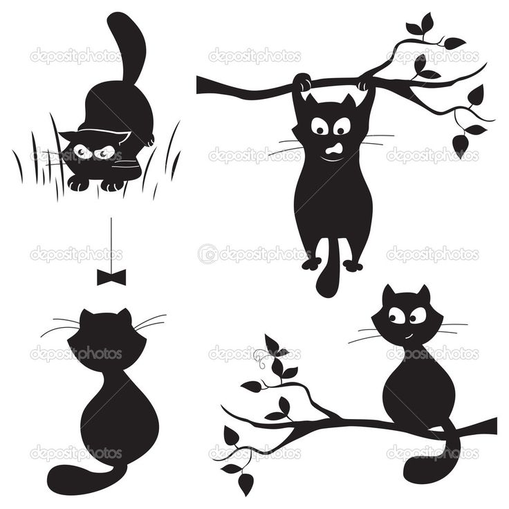 cat fence silhouette card - Google Search | Cards | Cat ...