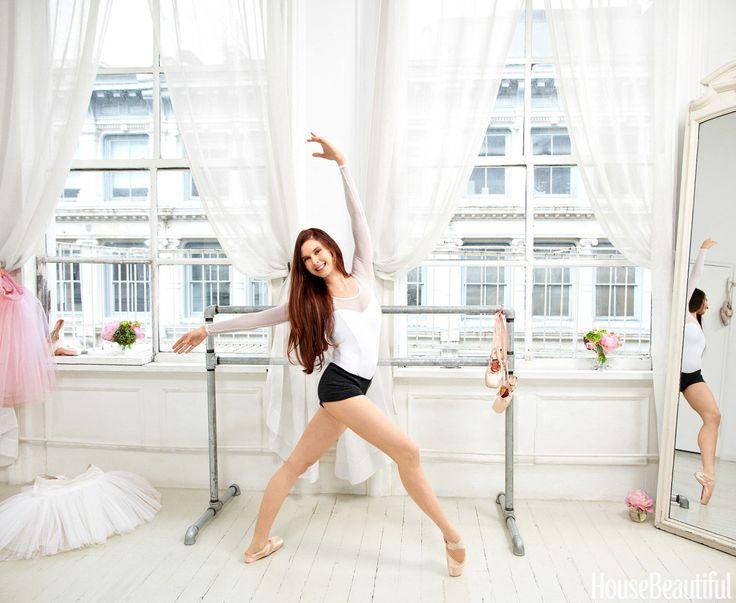 Inside a Ballerina's All-White Loft Dance Studio  - HouseBeautiful.com