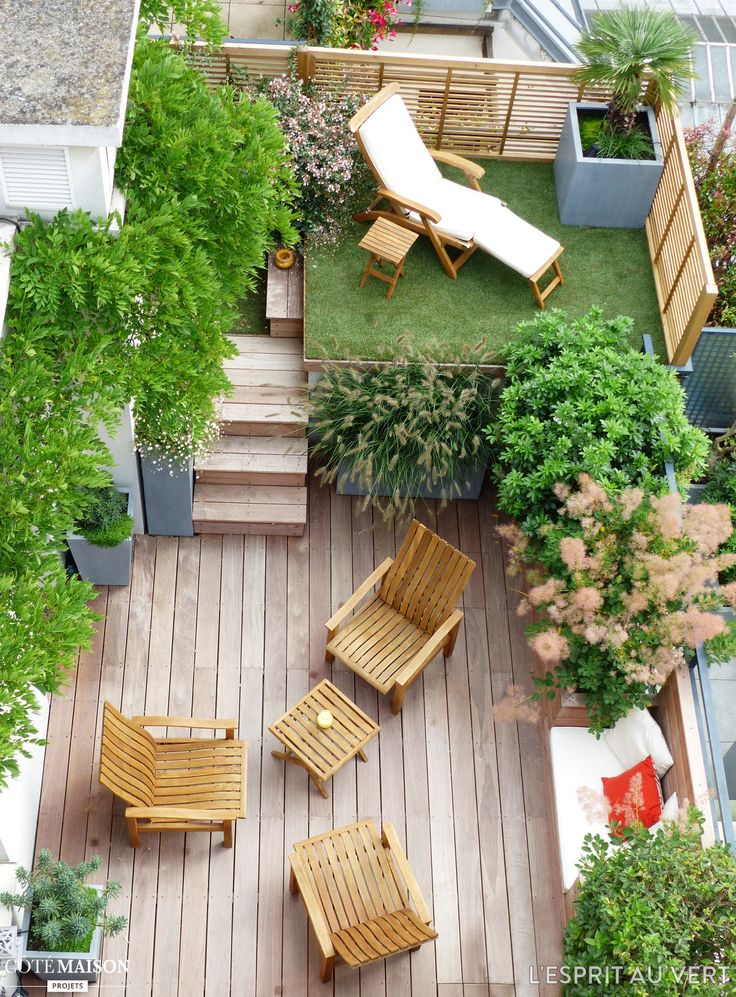 1000 id es sur le th me terrasses sur pinterest porches for Modele amenagement petit jardin
