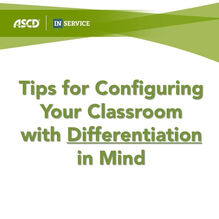 Great tips from Carol Ann Tomlinson on configuring a differentiated classroom.